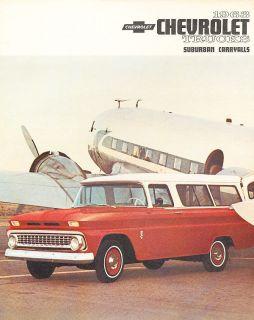 1963 Chevrolet Suburban and Carryalls Truck Dealer Sales Brochure