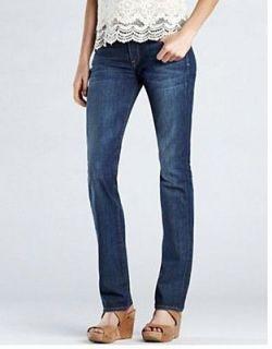 Lucky Brand Sofia Straight Below Waist High Back Rise Womens Jeans 0