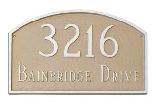Prestige Arch PETITE Address Plaque Lawn House Sign Numbers wall