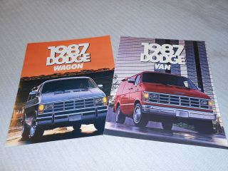 for 1 1987 DODGE RAM VAN & WAGON HUGE PRESTIGE BROCHURE, SALES