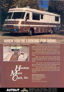 1991 HMC GMC Ford Motorhome RV Ad