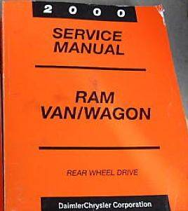 2000 DODGE RAM VAN WAGON Service Repair Shop Manual BOOK FACTORY OEM
