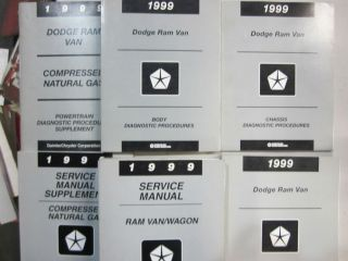 1999 RAM VAN/WAGON FACTORY SERVICE REPAIR MANUALS 6 VOLUMES