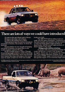 1981 Isuzu Pup Pickup Truck   Classic Vintage Advertisement Ad A99