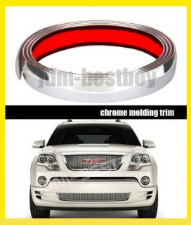 25mm Chrome Side Body Roof Top Rear Bumper Exterior Molding Trim #