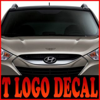 08 10 Kia Picanto T logo Decals sticker Dark Silver