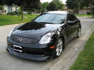 2003 04 05 INFINITI G35 COUPE FRONT LIP VS STYLE FRONT