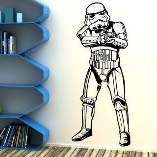 STORM TROOPER STAR WARS movie vinyl wall art room sticker decal FAST