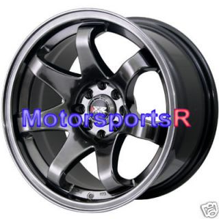 15 15x8 XXR 522 Chromium Black Concave Rims Wheels stance 4x100 03 06