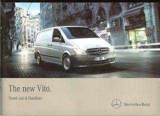Mercedes Benz Vito Panel Van & Dualiner Brochure   UK   2010
