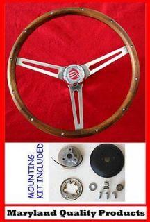 Mercury Comet Cyclone Cougar Grant Walnut Wood Steering Wheel 15 SS