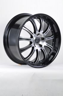 ZEBA S940 20 BLACK LIP WHEELS RIMS LINCOLN CONTINENTAL LS MK MKS MKZ