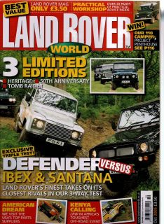 Land Rover Owner Magazine 10/05 Limited Editions, Defender v Ibex