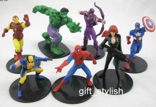 spider Iron Man Hulk Black Widow Wolverine Hawkeve Figure B100