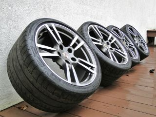 Porsche OEM 911 Turbo II 19 Wheels AND tires Forged 997 Set of 4