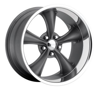CPP Boss Motorsports style 338 wheels rims, 18x8, 5x4.75, +2mm, gray