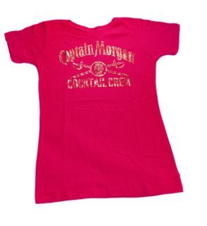 Captain Morgan Beer Alcohol Gold Foil Juniors Babydoll T Shirt Tee