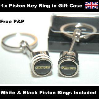 Noble M600 M12 M14 GTO Logo Piston Key Ring Keyring Fob 096
