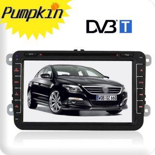 Car Radio W/GPS CD DVD Player DVB T MPEG4 TV F/VW Golf Jetta Polo EOS