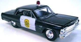 64 Chevy Impala Iowa Highway Patrol Police car detailed rubber