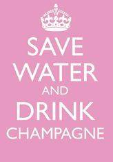 KEEP CALM CARD SAVE WATER DRINK CHAMPAGNE NEW IN CELLO