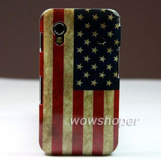 Retro USA Flag Design Hard Back Skin Case Cover For Samsung Galaxy Ace