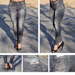 Supper Skinny Black Acid Wash Jeans Jeggings SZ 0 13