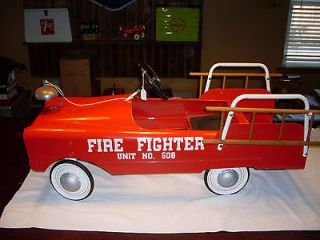 Vintage AMF 1960s Pedal Car Fire Truck restored