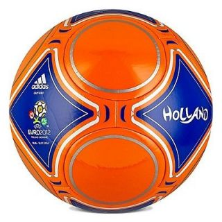 adidas Euro 2012 Holland Edt Soccer Ball Brand New Orange / Royal Sz 5