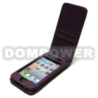 LEATHER WALLET CARD HOLDER FLIP CASE COVER FOR APPLE IPOD TOUCH 4TH