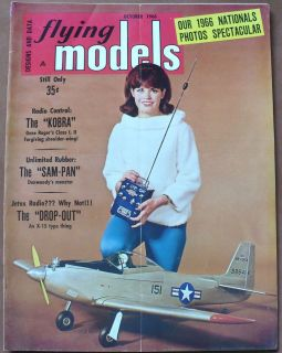 FLYING MODELS AIRPLANE R/C MAGAZINE OCTOBER 1966, KOBRA,STERLING P 51