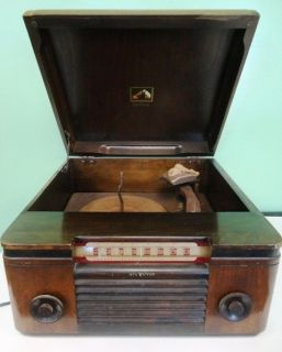 Vintage RCA Victor Victrola Tube Radio Phonograph Model 65U for Parts
