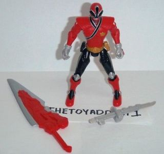 Power Rangers Samurai Red Fire Mega Ranger 4 inch Complete Weapons