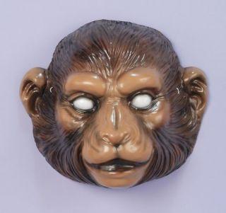 Child Monkey Mask Ape Plastic Animal Costume Accessory