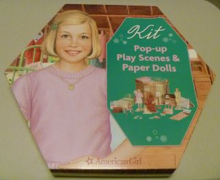American Girl® POP UP Play House Scene & Paper Dolls Kit Ruthie RARE