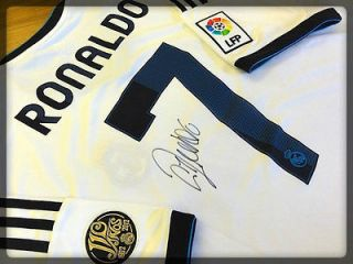 CRISTIANO RONALDO GENUINE HAND SIGNED 2012/13 REAL MADRID JERSEY