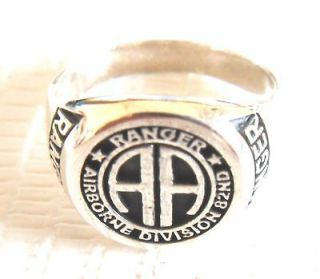 STERLING SILVER 925 USA Army 82nd Airborne Ranger RING