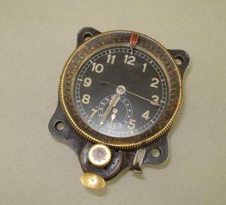 German Air Force Chronograph Clock Bo UK1? J30BZ? ME109 Airplane