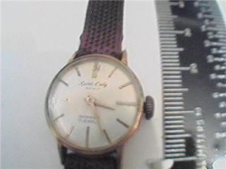 VINTAGE SPORTS LADY SEIKO DIASHOCK 17 JEWEL WATCH RUNS
