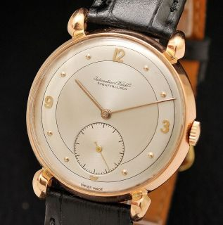 IWC INTERNATIONAL WATCH CO SCHAFFHAUSEN 18K SOLID GOLD SWISS DELUXE