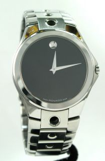 Movado Mens Super Cool Solid Stainless Steel Quartz Museum Unique