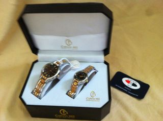 Calvin Hill Ladies and Mens Matching Quartz Watch Set