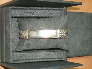 DAVID YURMAN Mens Sterling Silver Wide Chevron Link ID Bracelet