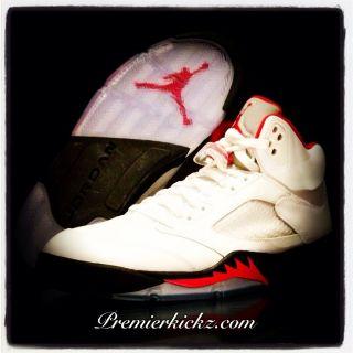 Air Jordan 5 Retro White / Fire Red 2013 10.5 New Concord Space Jam