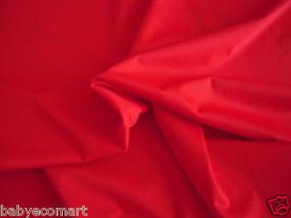 Liquidation Sale 5 Yards Red 1 mil PUL Waterproof Fabric for Cloth