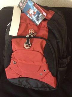 New Swiss Gear by Wenger Laptop Backpack Red Black Swissgear Radius