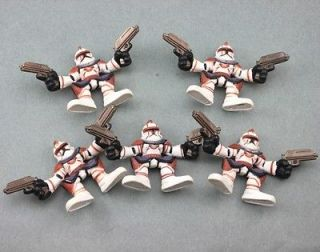5X STAR WARS GALACTIC HEROES COMMANDER FIL Troopers FIGURE Child xmas