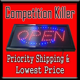 Animated LED Light Open Sign 19X10x1 Sup​er Fast Priority