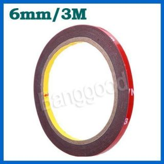 Truck Car Acrylic Foam Double Sided Attachment Tape Adhesive 6mm New