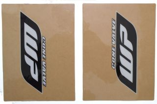 FORK STICKERS DECALS GRAPHICS KTM HUSABERG WP CLEAR/BLACK